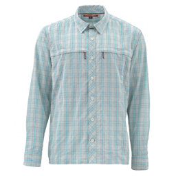Simms Stone Cold Long Sleeve Mens Shirt, Celadone Plaid, 256