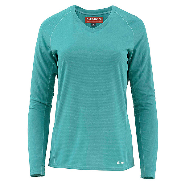 Simms Drifter Tech Long Sleeve Womens Shirt, Aqua, 600