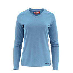 Simms Drifter Tech Long Sleeve Womens Shirt, Light Blue, 256