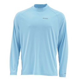 Simms Solarflex Long Sleeve Graphic Crewneck Mens Shirt, Tarpon Glacier, 256