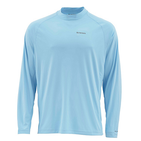 Simms Solarflex Long Sleeve Graphic Crewneck Mens Shirt, Tarpon Glacier, 600