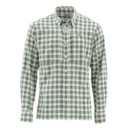 Simms Bugstopper Long Sleeve Mens Shirt, Kelp Plaid, 256