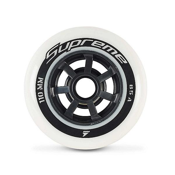 Rollerblade Supreme 110mm 85A Inline Skate Wheels - 8 Pack 2018, , 600