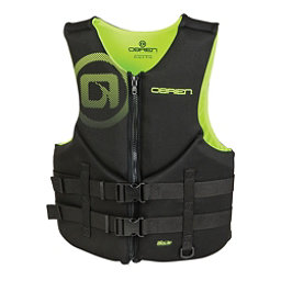 O'Brien Traditional Neoprene Adult Life Vest 2018, Black-Yellow, 256
