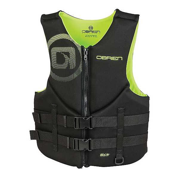 O'Brien Traditional Neoprene Adult Life Vest, Black-Yellow, 600