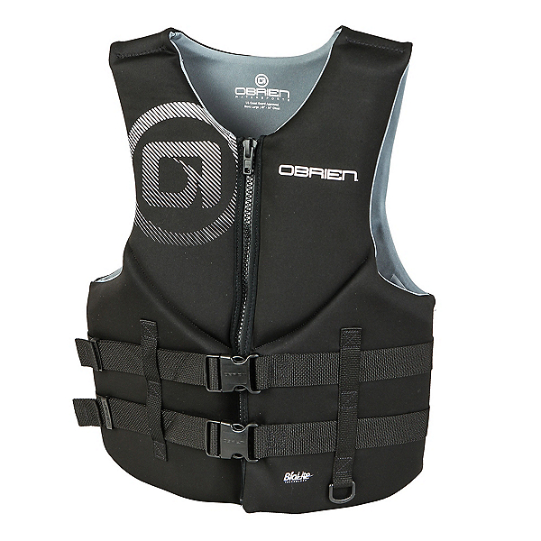 O'Brien Traditional Neoprene Adult Life Vest 2020, Black, 600