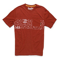 Howler Brothers Classic Pocket Mens T-Shirt, Red Heather, 256