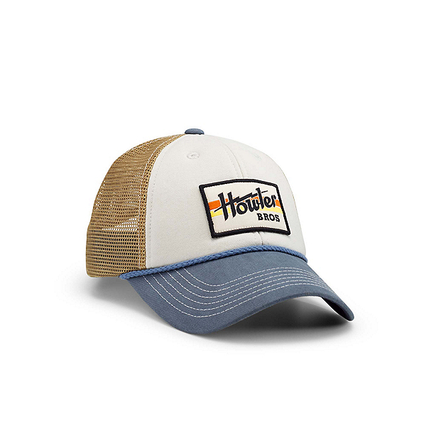 Howler Brothers Howler Standard Hat, Electric Stripe Off White-Blue, 600