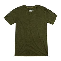 United By Blue Standard V-Neck Mens T-Shirt, Olive, 256