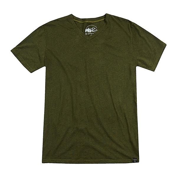 United By Blue Standard V-Neck Mens T-Shirt, Olive, 600