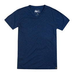 United By Blue Standard V-Neck Mens T-Shirt, Navy, 256