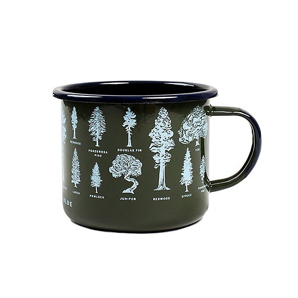 United By Blue Evergreen Enamel Steel Mug, , 600