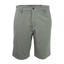Purnell Heather Quick Dry 10in. Mens Hybrid Shorts, Grey, 256
