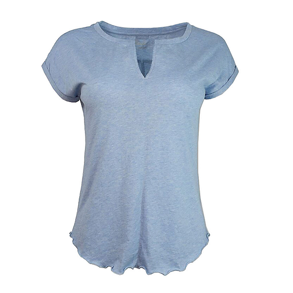 Purnell Heathered Tee Womens T-Shirt, Heather Blue, 600