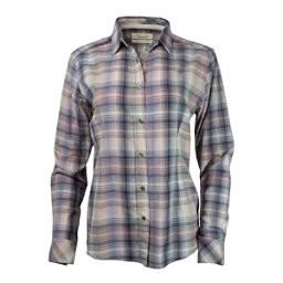 Purnell Pink-Navy Madras Plaid Womens Shirt, , 256
