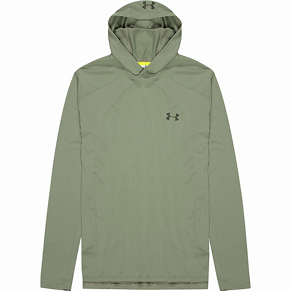 Under Armour Sunblock Mens Hoodie, Moss Green-Bitter-Nori Green, 600