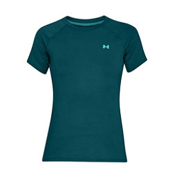 Under Armour Sunblock Short Sleeve Womens T-Shirt, Tourmaline Teal-Desert Sky-Tro, 256