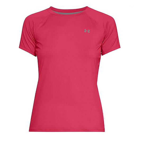 Under Armour Sunblock Short Sleeve Womens T-Shirt, Hollywood-Overcast Gray-Overca, 600