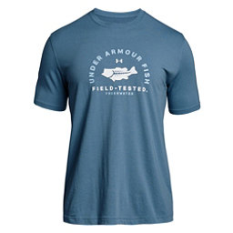 Under Armour Bass Field Tested Mens T-Shirt, Bass Blue-Elemental, 256