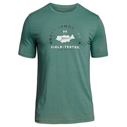 Under Armour Bass Field Tested Mens T-Shirt, Aegean Green-Olive Tint, 256