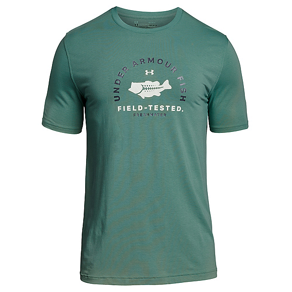 Under Armour Bass Field Tested Mens T-Shirt, Aegean Green-Olive Tint, 600