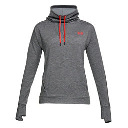Under Armour Featherweight Funnel Neck Womens Sweater, Charcoal Medium Heather-Charco, 256