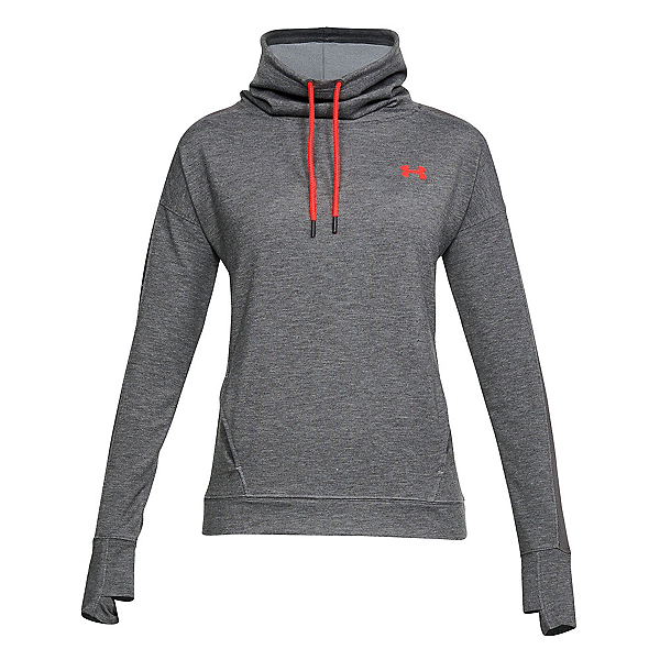 Under Armour Featherweight Funnel Neck Womens Sweater, Charcoal Medium Heather-Charco, 600