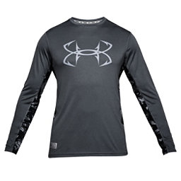 Under Armour Fish Hunter Tech Long Sleeve Mens Shirt, Graphite-Elemental, 256