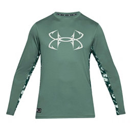 Under Armour Fish Hunter Tech Long Sleeve Mens Shirt, Aegean Green-Olive Tint, 256