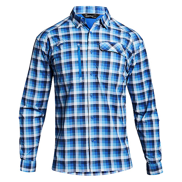 70aa9ba93d Fish Hunter Long Sleeve Plaid Mens Shirt