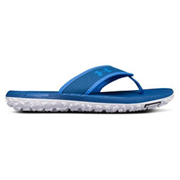 Under Armour Fat Tire Mens Flip Flops, Mediterranean-Moroccan Blue-Wh, 256