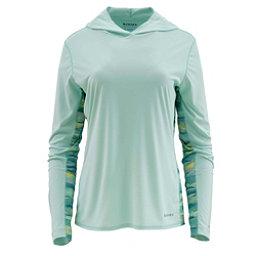 Simms Solarflex Print Womens Hoodie, Wintergreen, 256
