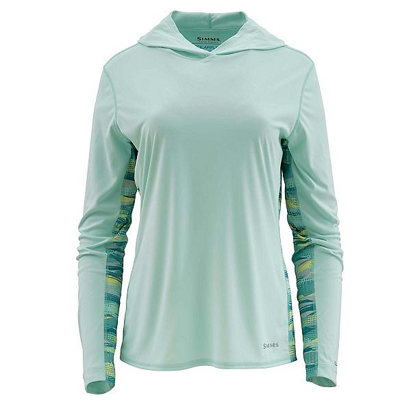 Simms Solarflex Print Womens Hoodie, Wintergreen, 600