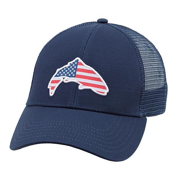 Simms USA Patch Trucker Hat, Admiral Blue, 600