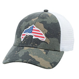 Simms USA Patch Trucker Hat, Simms Camo, 256
