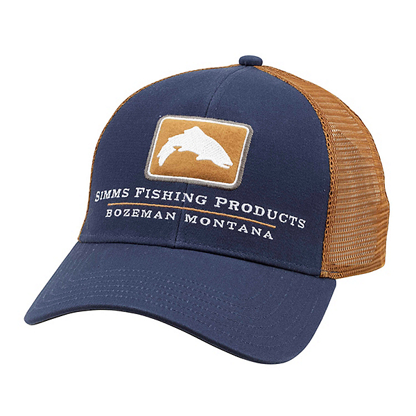 Simms Trout Icon Trucker Hat, Admiral Blue, 600