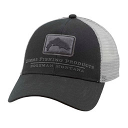Simms Trout Icon Trucker Hat, Black, 256