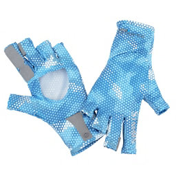 Simms Solarflex Sun Glove, Hex Camo Sky Blue, 256