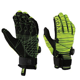 Radar Skis Vapor BOA A Water Ski Gloves 2018, Glow-Grey Stripes, 256