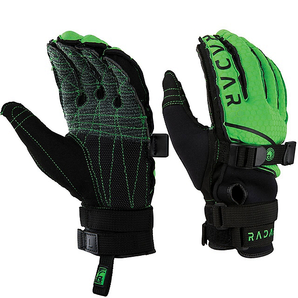 Radar Skis Ergo K Water Ski Gloves 2019, Green-Yellow, 600