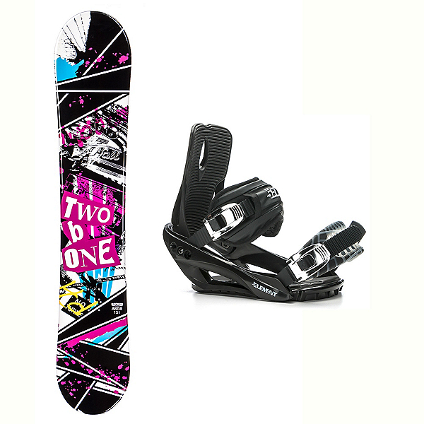 2B1 Arise Rocker Stealth 3 Snowboard and Binding Package 2018, , 600