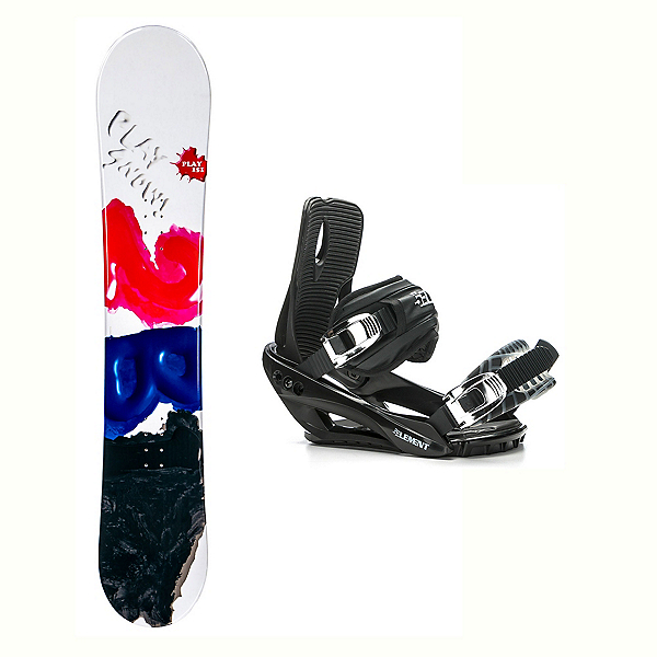 2B1 Play Black Stealth 3 Snowboard and Binding Package 2018, , 600