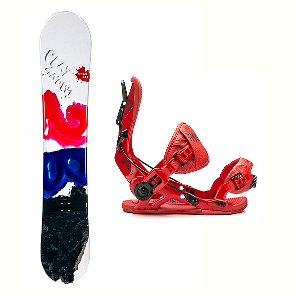 2B1 Play Black Mutant Snowboard and Binding Package 2018, , 600
