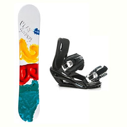 2B1 Play Green Stealth 3 Snowboard and Binding Package 2018, , 256