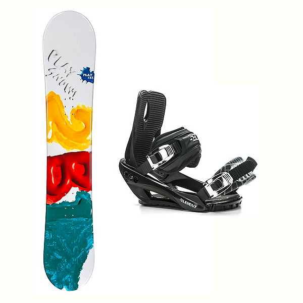 2B1 Play Green Stealth 3 Snowboard and Binding Package 2018, , 600