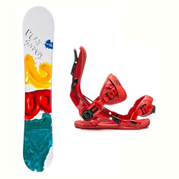 2B1 Play Green Mutant Snowboard and Binding Package 2018, , 256