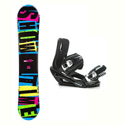 2B1 Showtime Blue Stealth 3 Snowboard and Binding Package 2018, , 256