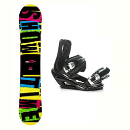 2B1 Showtime Yellow Stealth 3 Snowboard and Binding Package, , 256