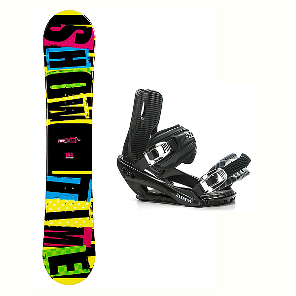 2B1 Showtime Yellow Stealth 3 Snowboard and Binding Package, , 600
