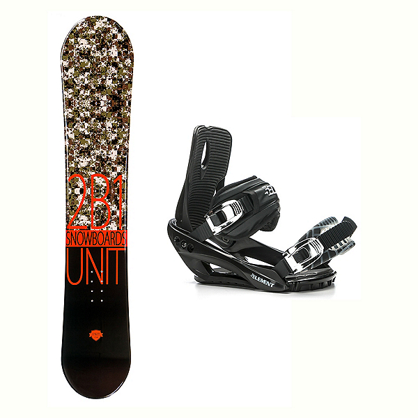 2B1 Unit Black Stealth 3 Snowboard and Binding Package 2018, , 600